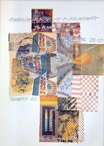 Vintage Original 1987 Robert Rauschenberg Offset Litho Collage Poster