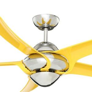 Vento Uragano 54 in. Indoor Chrome Ceiling Fan with 5 Yellow Blades  K-00031