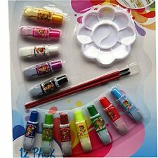 DGI -Watercolour Paint Set,12 Coloured Paints With Brushes, Art, Kids, CLEARANCE