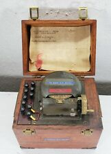 Vtg Navigation Instrument in Wooden Box Brass Hardware Railroad ?