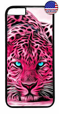 Pink Leopard Cat Print Rubber Case Cover For iPhone Xs Max XR X 8 7 6 Plus 5 4
