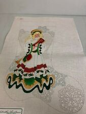 Strictly Christmas hand painted needlepoint canvas Angel stocking