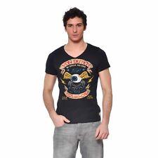 T-shirt Von Dutch Noir Col V Oeil Aile          (VD/1/TVC/SOCA/NR)