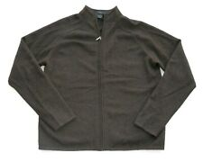women's MADISON STUDIO 100% cashmere brown full zipper top sweater XL