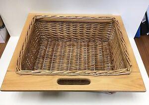 Wicker Basket, Kitchen, 400mm 500mm 600mm, High Quality, Beech, Solid Runners