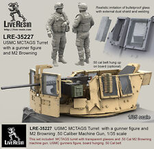 Live Resin 1/35 USMC MCTAGS Turret with Gunner and M2 Browning .50 Calibre MG
