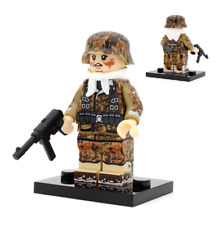 World War 2 Lego Mini figure German Military Soldiers WW2 With MP40 4 Side Print