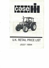 Case IH Retail Price List Tractor Harvester  Leaflet July 1994 COPY 6440F