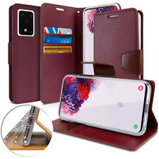 For Galaxy S20 Plus / S20 Ultra leather wallet Case Flip Holder Slim Magnetic