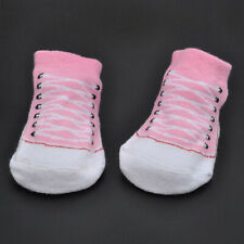 1 Pair Baby Girl Boy Anti-slip Cotton Socks Newborn Slipper Shoes 0-12 Months