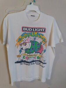 Vintage 1987 Spuds Mackenzie Bud Light Single Stitch Shirt Large Made in USA