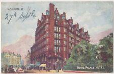 Royal Palace Hotel, Kensington, London 1906 Advert Postcard B796