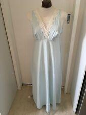 Vintage 60s Lyn Maid Blue Sleeveless Cotton Blend Nightie Vtg Sz Ssw mod 8 -10