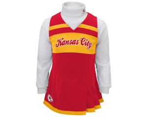 Outerstuff NFL Toddler Girls Kansas City Chiefs Cheer Jumper Dress