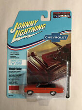 JOHNNY LIGHTNING MUSCLE 1969 CHEVY IMPALA SS CONVERTIBLE HUGGAR ORANGE PAINT