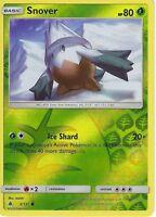 Pokemon SM Forbidden Light Card: Snover - 3/131 - Reverse Holo