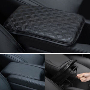 Car Armrest Pad Cover Center Console Box Leather Cushion Armrests Pads Accessory