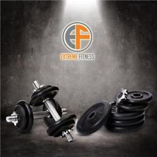 Dumbbell Set 22kg Dumbbells Fitness Weights Cast Iron Bar Plates Home Gym