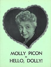 "Molly Picon ""HELLO DOLLY"" Beth Fowler / Jerry Dodge / Jerry Herman 1971 Program"