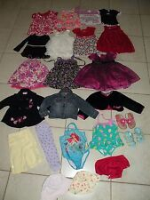 Lot 23pc Toddler Girls Clothes & Shoes Size 18M- 24- 2T