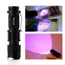 UV 3W LED Taschenlampe Flashlight Lila-licht Torch Prüfgerät Ultraviolett Neu