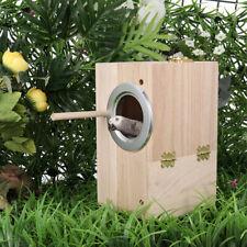 Popetpop Wooden Nest Pet Parrot Budgies Parakeet Nesting Box Station Bird Supply