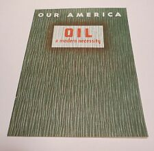 """VINTAGE COCA COLA 1940's """"Our America Oil"""" with picture stamps"""