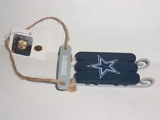 Dallas Cowboys Nfl Blue Sleigh Hanging Ornament, New with Tags