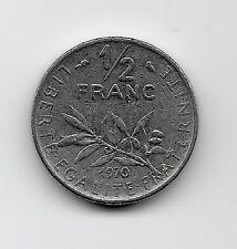 World Coins - France 1/2 Franc 1970 Coin KM# 931.1