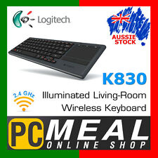 Logitech K830 Illuminated Living-Room Keyboard  Wireless Backlit keys & Touchpad