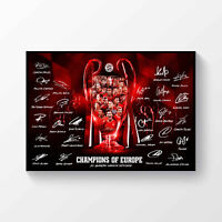 FC Bayern Munich 2019-2020 Champions League Winners Signed Poster A4