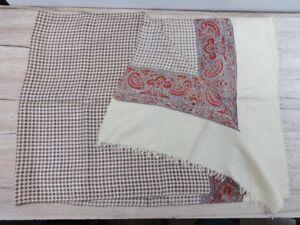 Vintage Paisley Mens Scarf Shawl Silk #F12