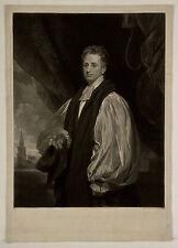 1827, Reginald HEBER, bishop of CALCUTTA, rare mezzotint, hymn writer, TRAVELLER