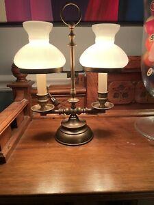 Vintage Double Arm Student Lamp