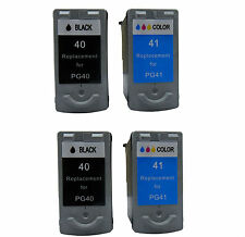 Reman Ink Cartridge for Canon PG-40/CL-41(2 Black/2 Color) use in Pixma MP190