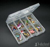 Tackle Box + Mixed Assorted Fishing Spinners, Starter Kit