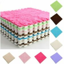 Soft Velveteen Plush Carpet Shaggy Play Area Rug Floor DIY Mat Home Bedroom