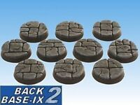 25mm Resin Bases (10) Round Dungeon Stone Warhammer 40k