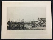 Original Antique Etching by French Engraver Auguste Ballin