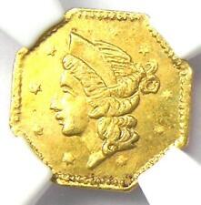 1853 Liberty 25C California Gold Quarter BG-101. NGC MS64 (BU UNC) - $5500 Value