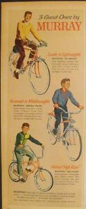 """1966 Murray Bicycles Wildcats~Astro Flite~Le Mans Boys Kids Bikes 5 x 13"""" Art AD"""