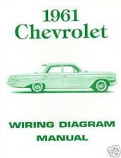 1961  61  CHEVROLET WIRING DIAGRAM  MANUAL