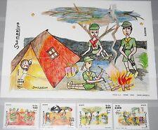 Somalia 2003 Unlisted set + bloque Boy Scout Boy Scouts camp Child pinturas mnh
