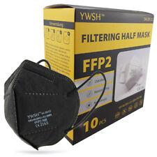 10/20x FFP2 Atemschutzmaske CE 2163 EU zertifizierte Maske Mundschutz Schwarz