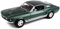 Maisto 1:18 1967 Ford Mustang GTA Fastback Diecast Model Racing Car Toy Green