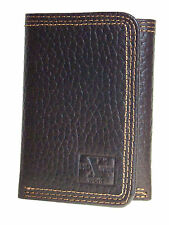 Nocona HD Xtreme Work Mens Western Brown Leather Wallet Tri-Fold Nylon Int