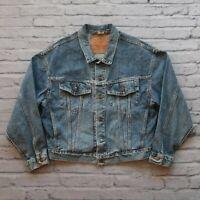 Vintage Levis Type 3 Denim Trucker Jean Jacket Size M L Medium Wash 90s