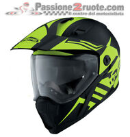 Helmet moto Caberg Xtrace black yellow size M casque integral helm touring
