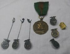 Vintage FFA FUTURE FARMERS JACKET LAPEL PINS Lot of 7 VOCATIONAL AGRICULTURE