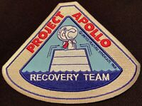 "SNOOPY - PROJECT APOLLO - RECOVERY TEAM - NASA SPACE PATCH - 5.75"" X 4.5"""